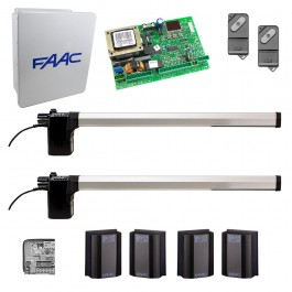 412 Swing Gate Operator Kit for Bi-Parting Gates (14x16 Enclosure) - FAAC 412BP1S.5