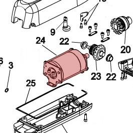 24V Motor for 415 - FAAC 60202205