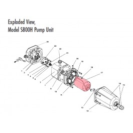 S800H Motor (Highlighted Part Only)