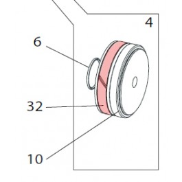 O-Ring, Inner Piston Seal - FAAC 7049195