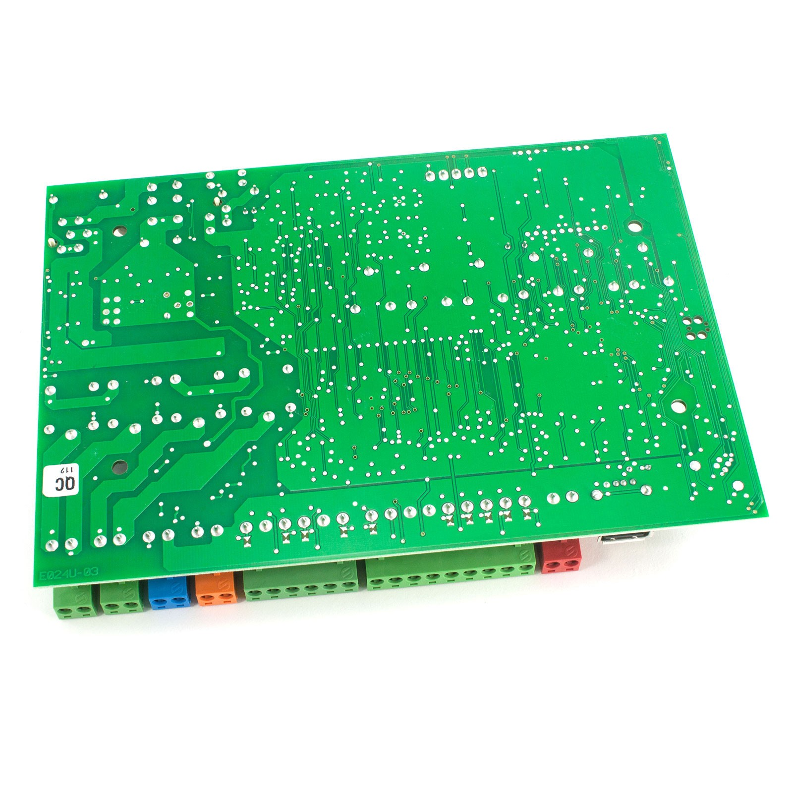 E024u Control Board Faac 202025 Fast Gate Openers Controller Image Opener Circuit Panel Side View Closeup Back Diagram