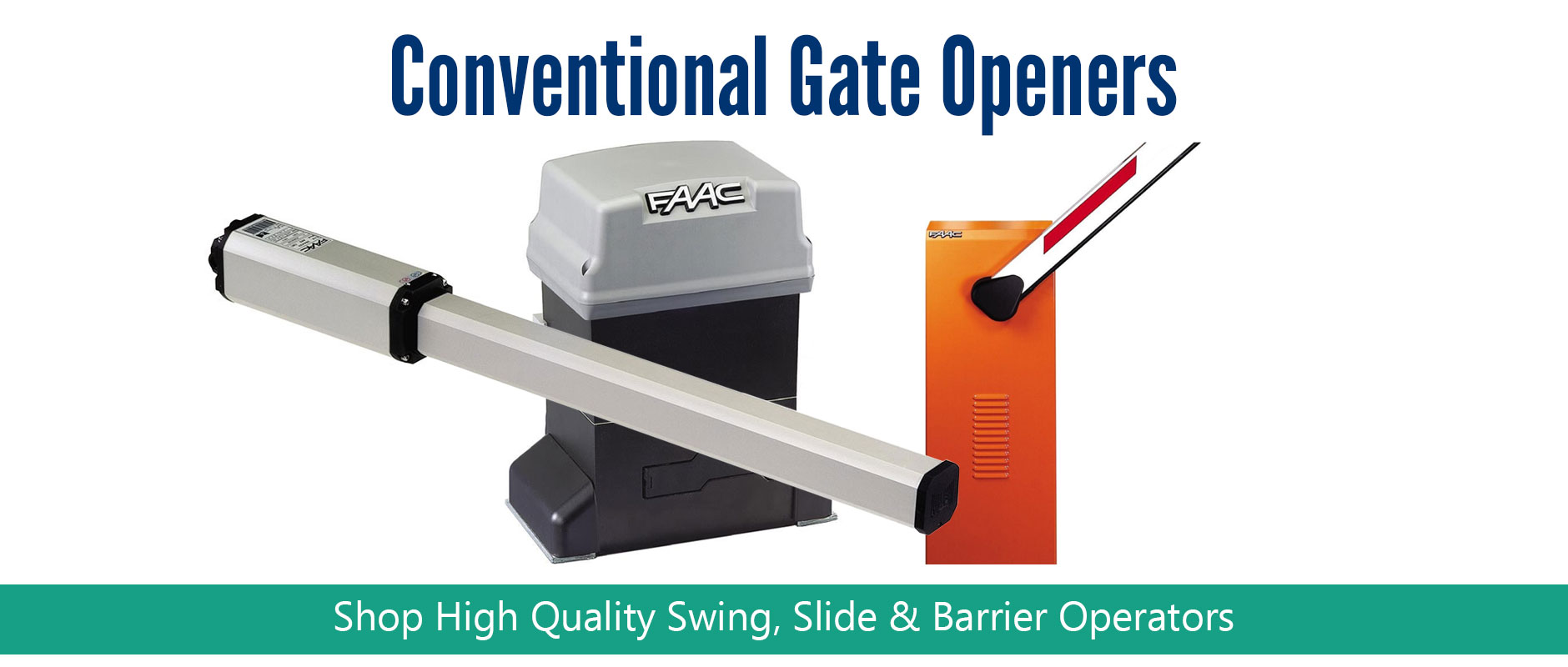 FAAC Conventional Gate Openers